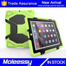Top Quality Rugged Case for iPad 2 for Apple 9.7inch Tablet Kids Proof Waterproof Case