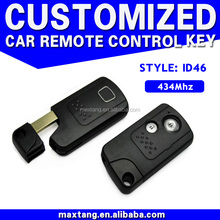 ID46 Car Key 434MHz For Honda Replacement Remote Auto Keys Without Card Slot 2 Buttons MTF-100423