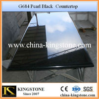 G684 Pearl Black Man Made Stone Countertops