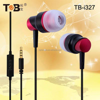 Cheap fashion noise cancelling in-ear earphones / earbuds / headphones with in-line mic for smart phones TB-I327