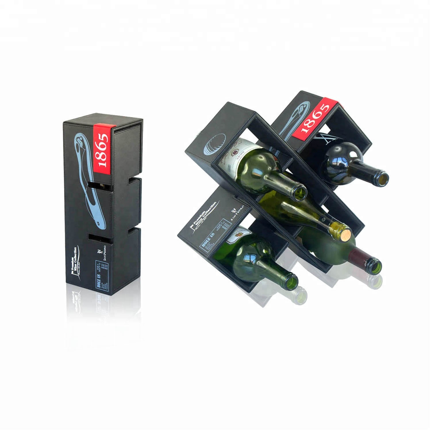Portable Custom High Quality Wine Rack for 2 Bottles