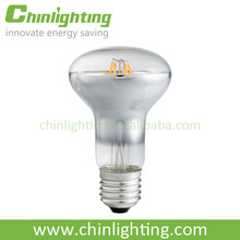 E27 R80 clear glass 3W 4W led filament high lumen led bulb