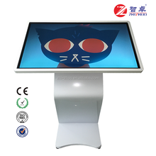 floor stand 43inch android WIFI LCD touchscreen advertising player totem kiosk