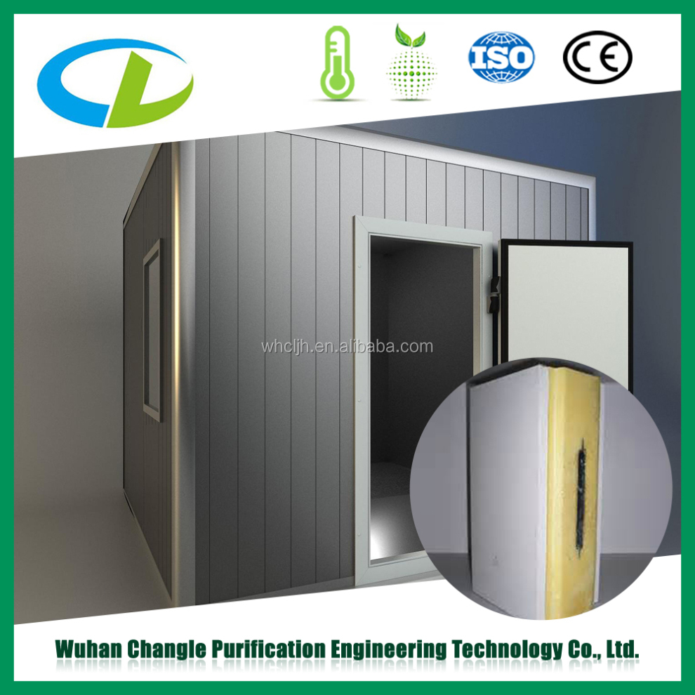 Cold room panel with rigid polyurethane foam, PU sandwich panel, Polyurethane foam sandwich panel