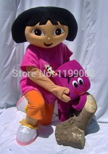 MOON BUNNY DORA explorer adult costume DORA mascot costume plush cartoon role playing clothing polyfoam head Wholesale MOQ 1 set