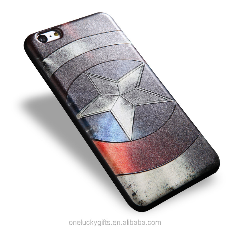 Global popular movie design new Smart mobile phone case for iphone 6 soft embossed phone shell
