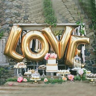 40 inch gold LOVE aluminum foil balloons letter balloons wedding party decoration balloon valentine's day supplies