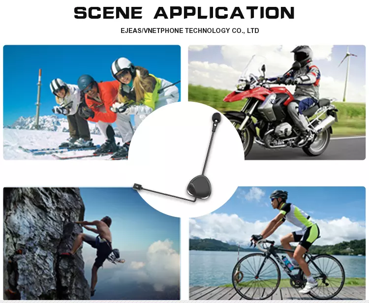 Full duplex bt interphone wireless bluetooth walkie talkie headset motorcycle helmet intercom