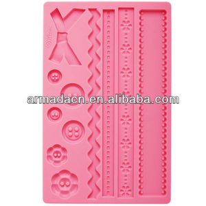 New!! Silicone Fabric Fondant and Gum Paste Mold