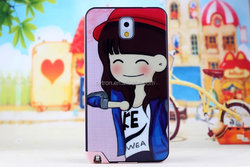 2 in 1 Cartoon Funny Print Cover,Hybrid Tpu + Pc Case for Samsung Galaxy Note