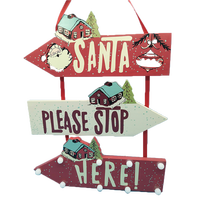 Natural Wooden Santa Claus Cheap Christmas Decorations