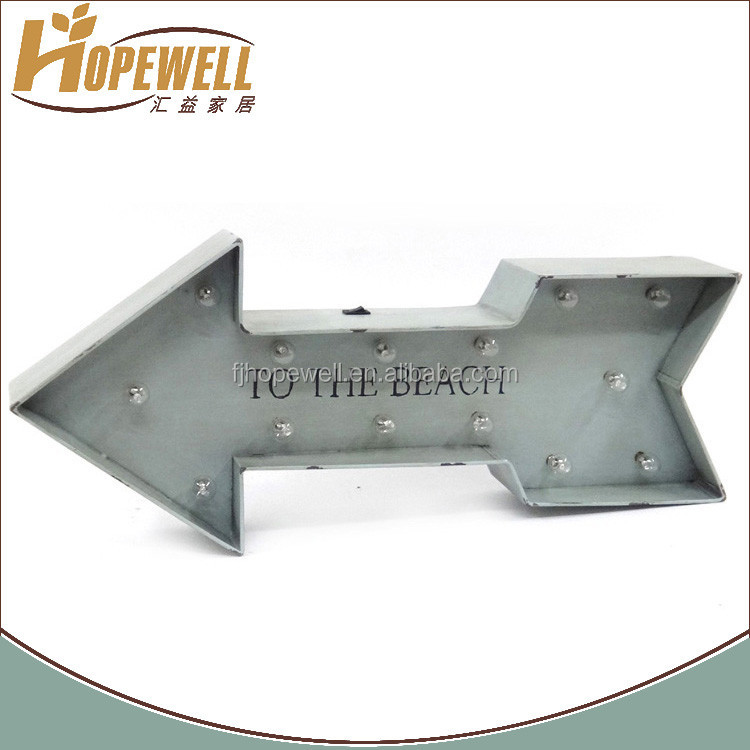 led light decoration , led arrow sign for wall dector