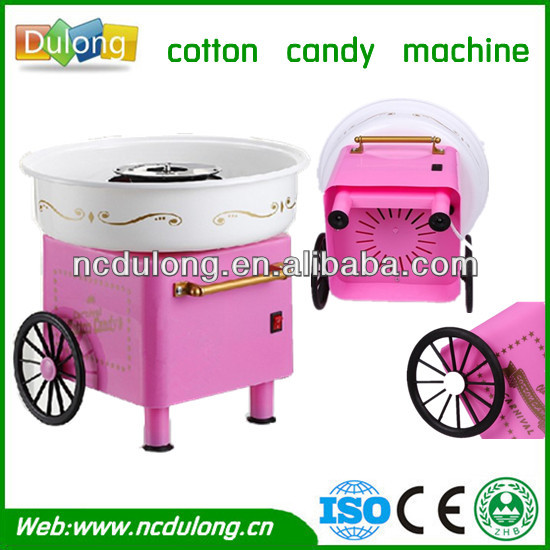 CE approved recyclable electric cotton candy making machine