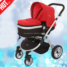 high view landscape polished aluminum frame baby stroller/alu alloy material baby pram in wholesales