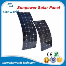 12V 18V 24V Powerful Solar Charge Supply Sunpower Roll Up Solar Cell Flexible Home Roof Solar Panel 100W 120W 150W