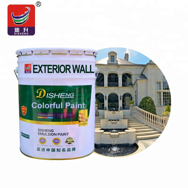 Weather resistant waterbased acrylic stone granite wall paint for exterior wall decorative in spray effect building <strong>coating</strong>