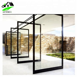 Latest design entry aluminum frame glass interior pivot door