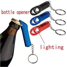 3 LED Keychain Bottle Opener Keyring Aluminium Torch