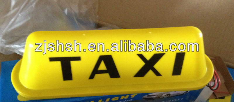 YELLOW TAXI LAMP LED COUNTER TOP LIGHTING