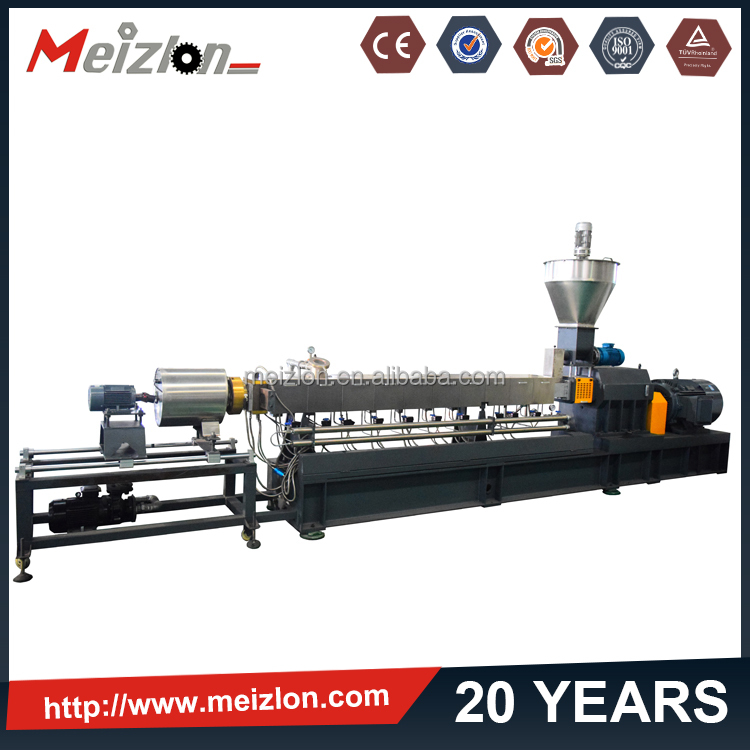 ABS PS PP making composite twin screw extruder resin auxiliary wpc plastic wood pellet machine
