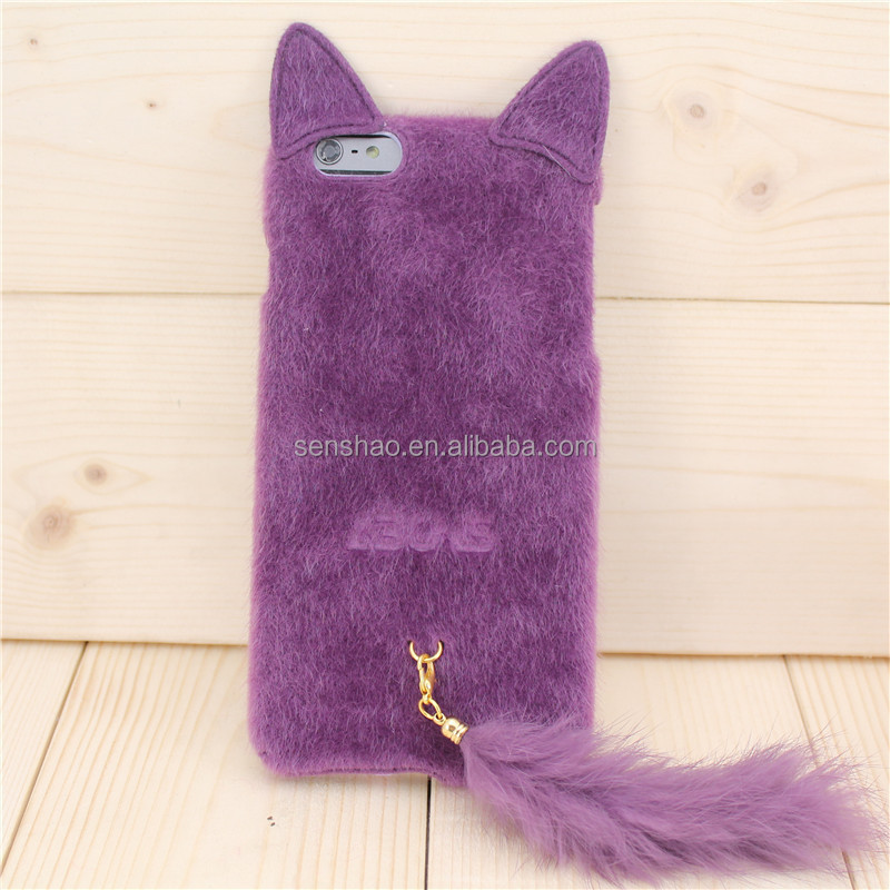 Hair Phone Case cat Soft Cover Cartoon Case for iphone6