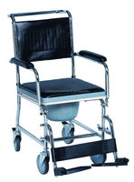 rehab shower commode chair with PVC seat for adult