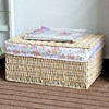 Natural cheap hand made basket in different colors for home storage