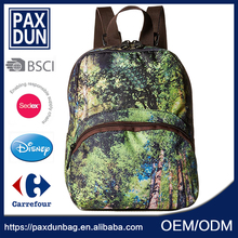 Fashioned Stylish Durable School Backpack Canvas Pattern