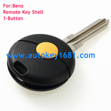 Remote head key shell 1button replacement car key control blank remote key case for Mercedes Benz smart