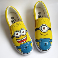 Shoe Factories Guangzhou Cheap Canvas Slip On Shoes Minion Shoes