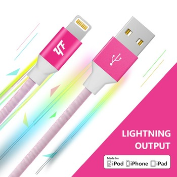 2.4A Smartphone accessories Led usb cable for light ning cable iphone