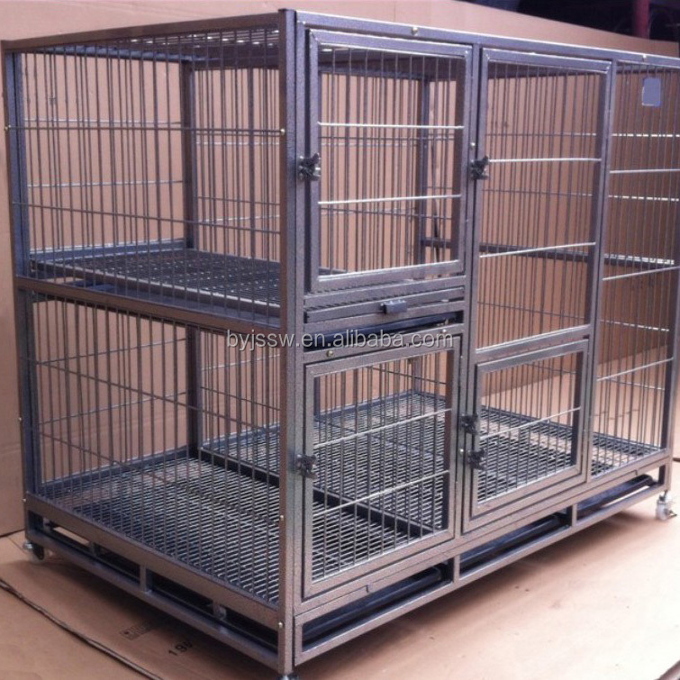 Eco-friendly Foldable Steel Dog Crates With Wheels