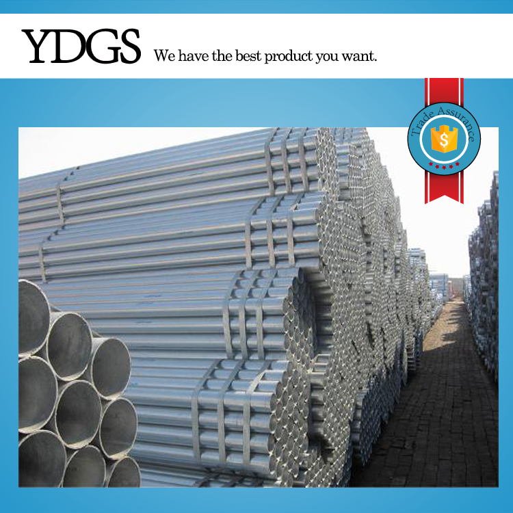 "steel structure building materials ! galvanized tube 8"" hot dipped galvanized steel pipe with threading"