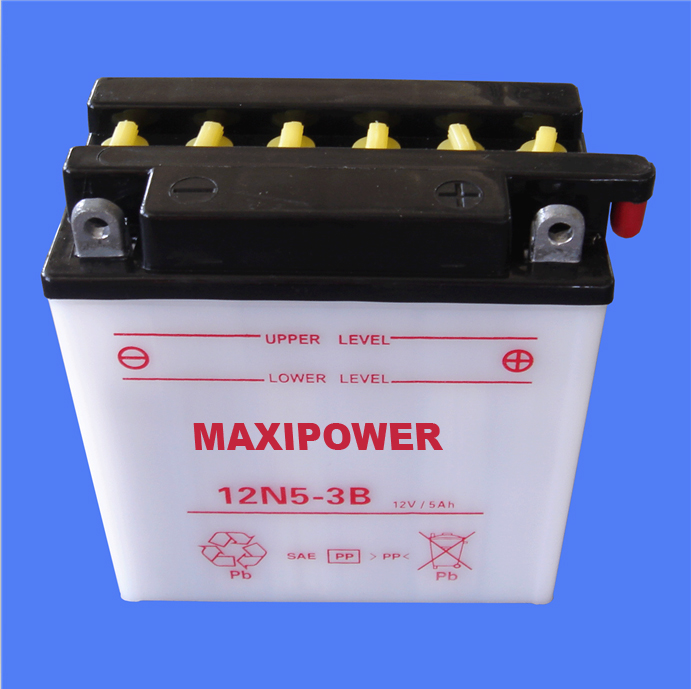 12v dry charged lead acid motorcycle battery