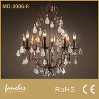 Fancy Candle Shape Crystal Chandelier Lamp