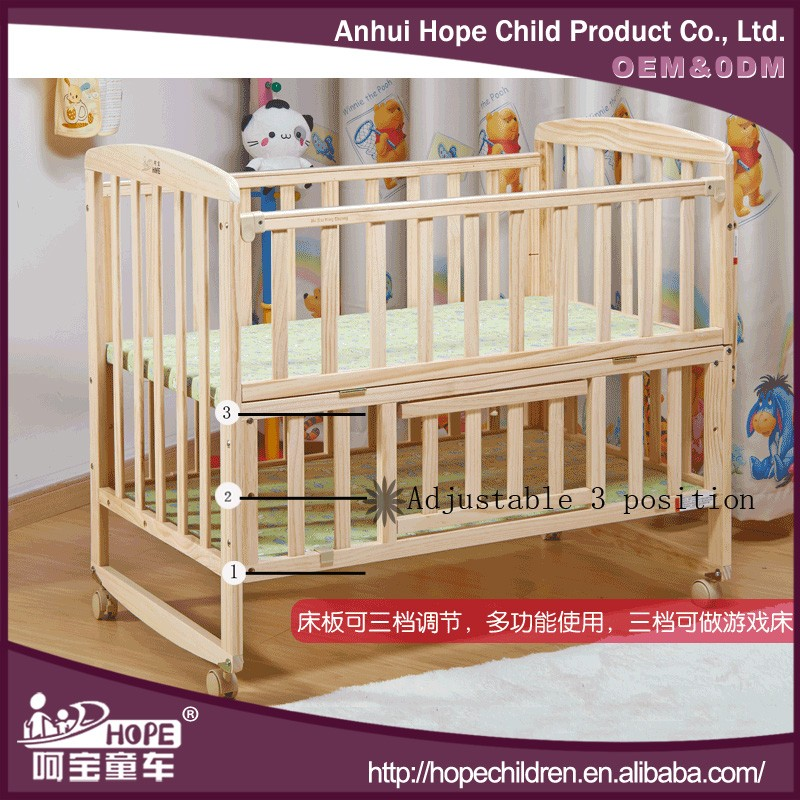 multifunctional baby crib New Zealand solid wood kid bed