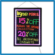New Price ZD Blacklit Board CE/ROHS/FCC Magnetic Dry Erase Board Aluminum Alloy Frame Hanging Restaurant Menu Board 90 Flashing