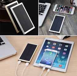 Real 10000mah high efficiency charger solar power bank for cellphone