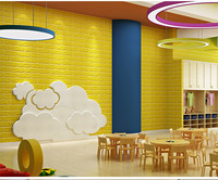 Hot sale kids safety foam brick panels 3d wallpapers for wholesales