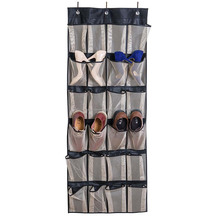 24 Large Pockets Over the Door hanging Shoe Organizer