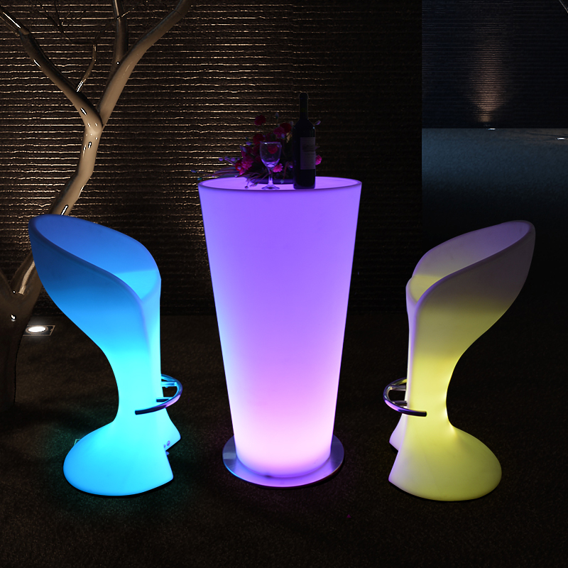 High top party LED bar tables and led furniture chairs for sale,led bar lighting furniture