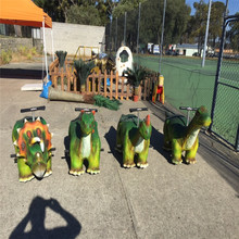 Chinese supplier amusement park kids dinosaur rides for rent
