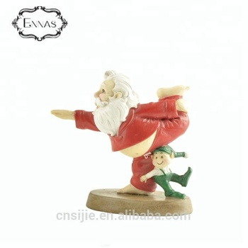 High quality funny yoga grandpa resin christmas decoration crafts