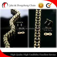 zhejiang jinhua yongkang dongsheng reasonable price 428UO 520UO COPPER CHAIN MOTORCYCLE CHAIN 150cc yamaha motorcycle parts