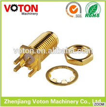 low price SMA female connector threaded connecting Blukhead PCB Mount rf connector