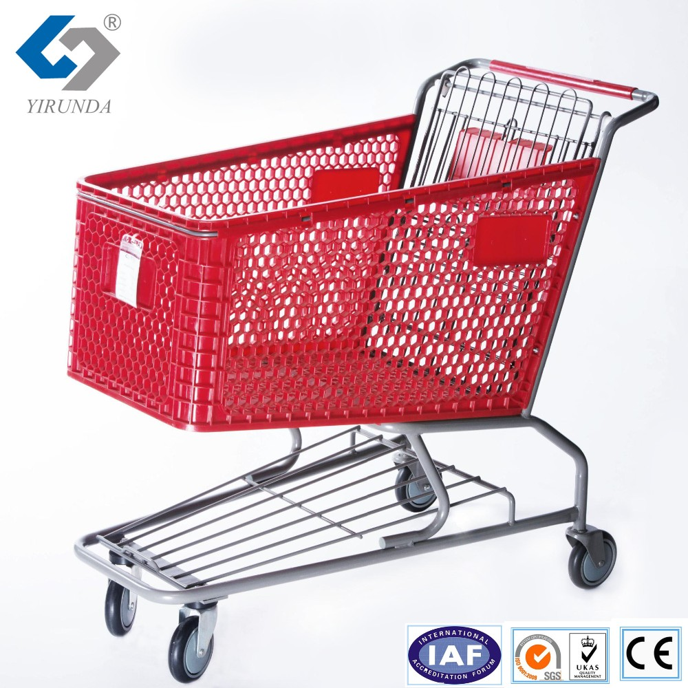 70 litre Black colour power coating shopping trolley for supermarket