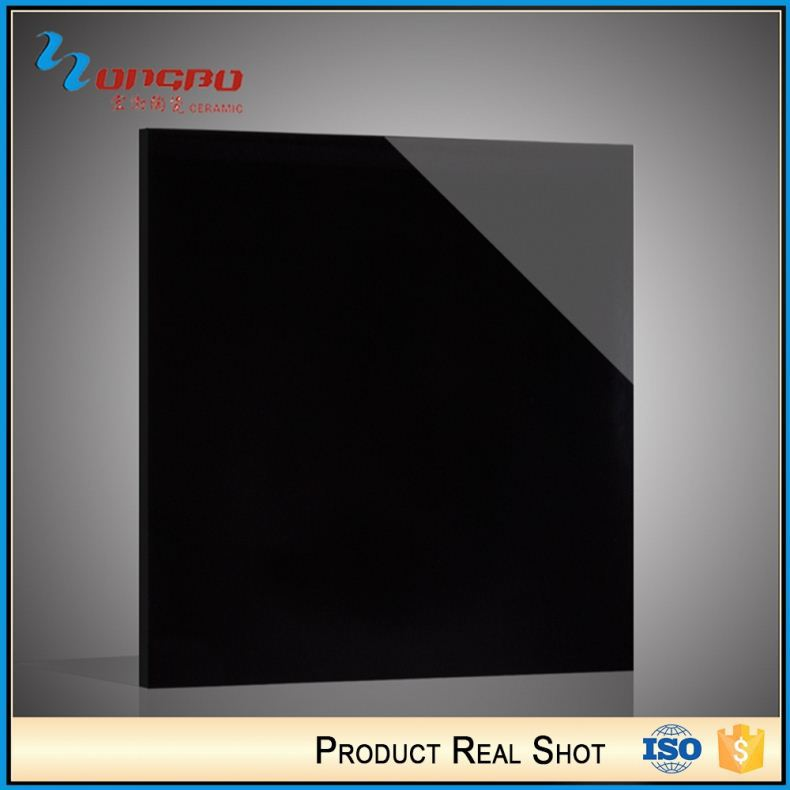 Foshan Double Loaded Porcelain Tiles Discontinued Black Ceramic Floor
