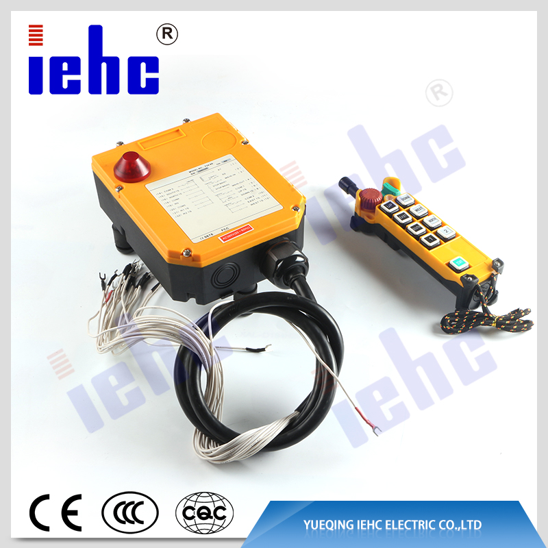 F24-8S waterproof single speed radio industrial crane electric hoist wireless remote control