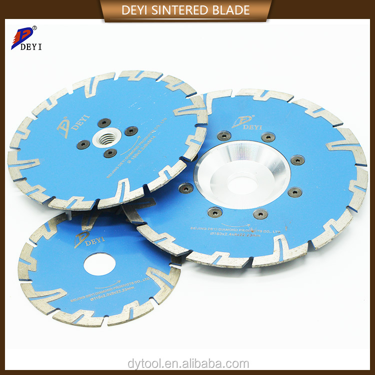 Dry cutting stone diamond sintered saw blade disc