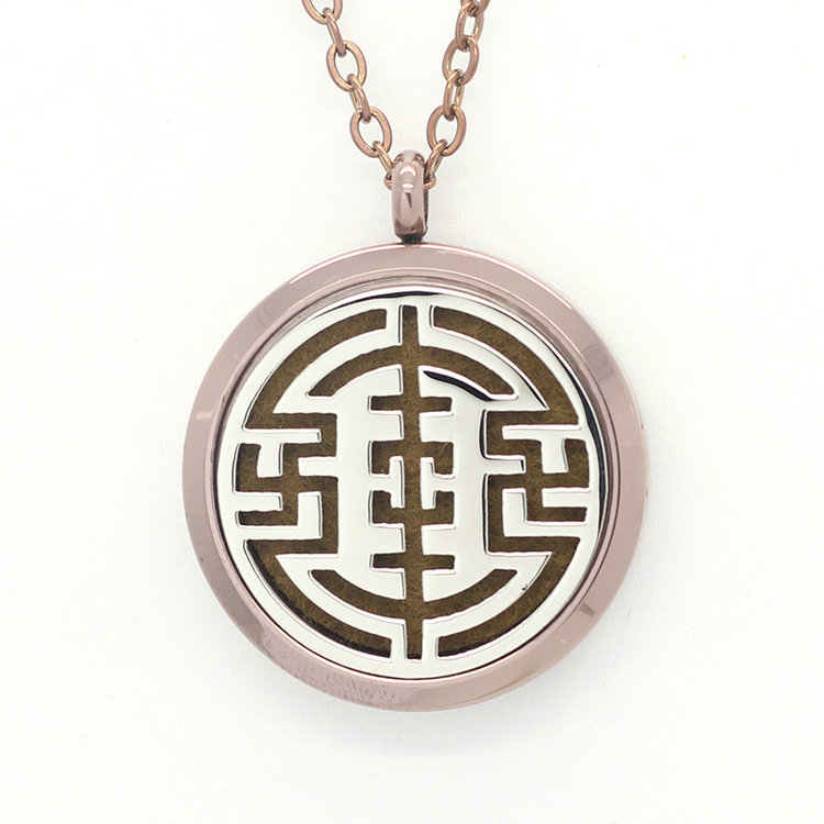 Jenia Unique Pattern Stainless Steel Aromatherapy Essential Oil Diffuser Locket Penadnt Children Necklace With Chunky